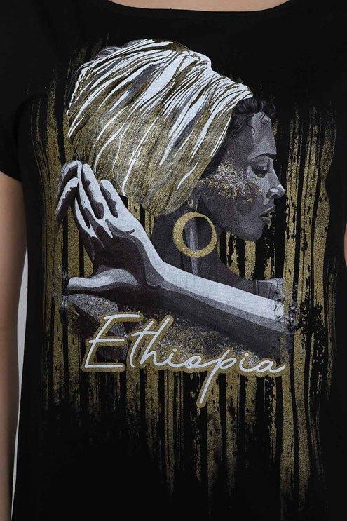 """Футболка """"Эфиопия"""", черный"""