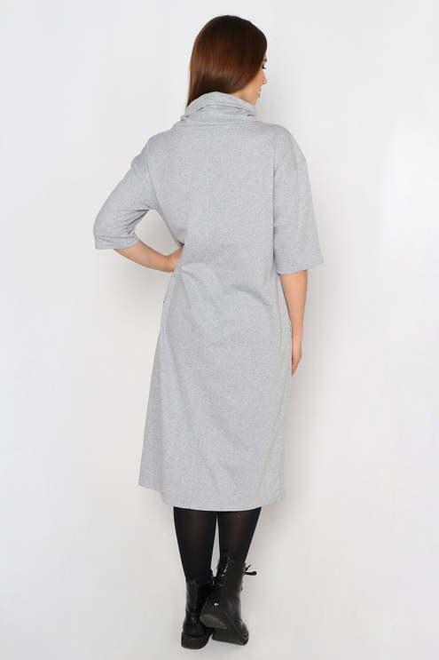 "Платье ""Бант"" , серый меланж"