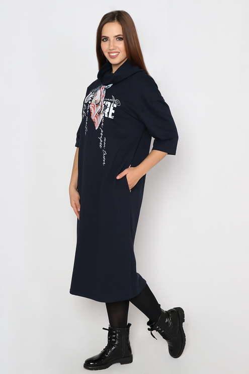 "Платье ""Бант"" , темно-синий"