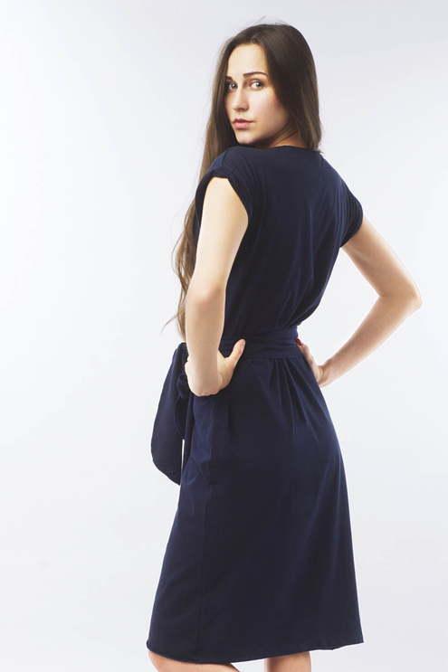 "Платье ""Пудра"", темно-синее"