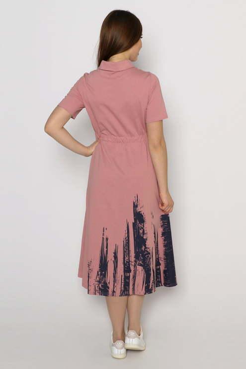 """Платье """"Стрит-арт"""", пудровый"""