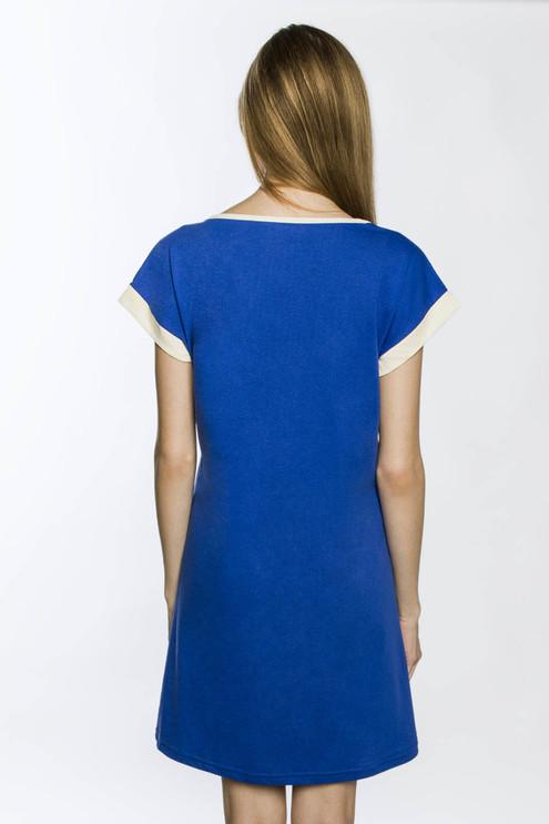 "Платье ""Лотосы"", голубой"